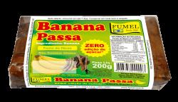 Banana Passa - Sem Açúcar - Fumel - 200g.