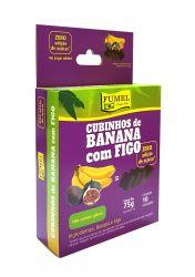Cubinhos de Banana c/ Figo - Sem Açúcar - FUMEL - 75g.