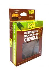 Cubinhos de Banana c/ Canela - Sem Açúcar - FUMEL - 75g.