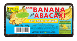 Doce de Banana c/ Abacaxi - Sem Açúcar - FUMEL - 300g.