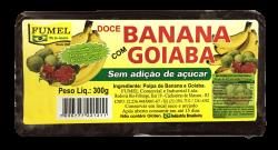 Doce de Banana c/ Goiaba - Sem Açúcar - FUMEL - 300g.
