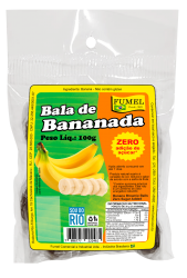 Bala de Bananada Natural - Sem Açúcar - FUMEL - 100g.