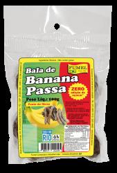 Bala de Banana Passa - Sem Açúcar - FUMEL - 100g.