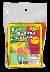 Bala de Banana c/ Goiaba - Sem Açúcar - FUMEL - 100g.