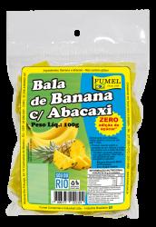 Bala de Banana c/ Abacaxi - Sem Açúcar - Fumel - 100g.