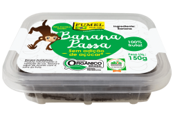 Banana Passa ORGÂNICA - Sem Açúcar - 150g.